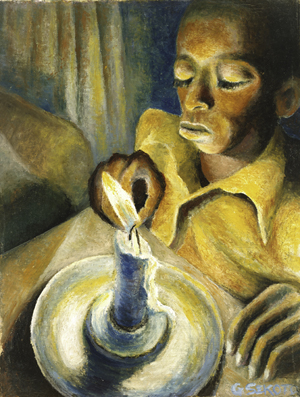 'Boy and the Candle,' oil on canvas, by South African artist Gerard Sekoto (1913-1993), 1943. National Museum of African Art, Smithsonian Institution, museum purchase, 2000-3-1 Photograph by Franko Khoury.