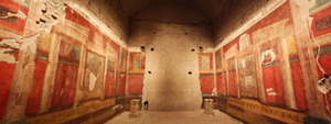 Fresco paintings inside the House of Augustus, his residence during his reign as emperor Maison d'Auguste. This file is licensed under the Creative Commons Attribution-ShareAlike 3.0 Unported license.