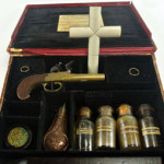 Vampire Killing Kit outfitted with all the accountrements to stave off an unwanted visit from a blood-sucking predator. Est. $8,000-$12,000. Don Presley image