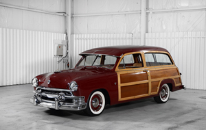 """1951 Ford Country Squire """"Woody"""" station wagon. Morphy Auctions image"""