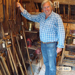 Graham Child with some of his vintage garden tools. Photo Garden Artefacts.