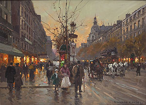 E.L. Cortes (French, 1882-1969) painting. Price realized: $24,000. Cordier Auctions & Appraisals image.
