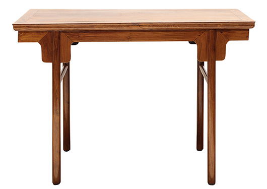 This Chinese haunghuali altar table tied for top lot in Asian art selling for $17,800. Clars image.
