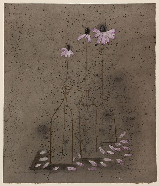 'Daisies (1949)' by Morris Graves (American, 1910-2001) sold for $26,000. Clars image.