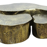 Clars set a new world for American sculptor and designer Silas Seandel (b. 1937) with this large patinated in metal abstract tree trunk table which achieved $26,000. Clars image.