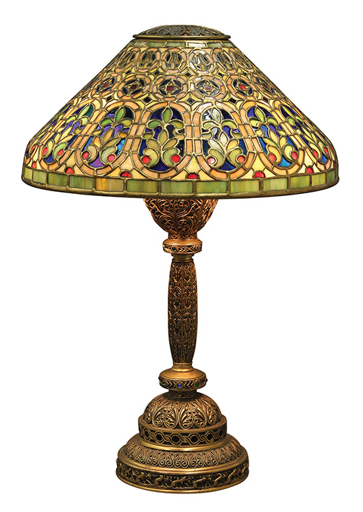 This Tiffany Studios 'Venetian' desk lamp, circa 1910, fetched $56,500. Clars image.