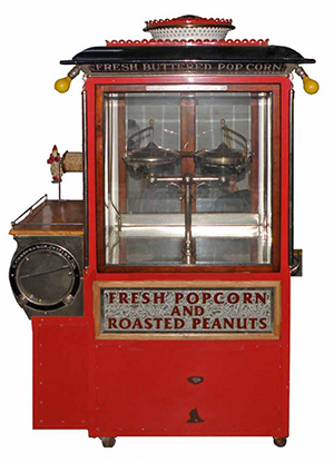 Rsre Cretors Model 401 popcorn machine, circa 1920, in restored condition. Image courtesy LiveAuctioneers.com archive and Mosby & Co. Auctions.