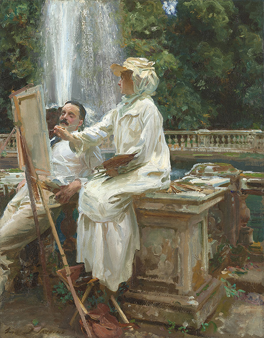 'The Fountain, Villa Torlonia, Frascati, Italy' by John Singer Sargent, 1907. Friends of American Art Collection, 1914.57 © Art Institute of Chicago.