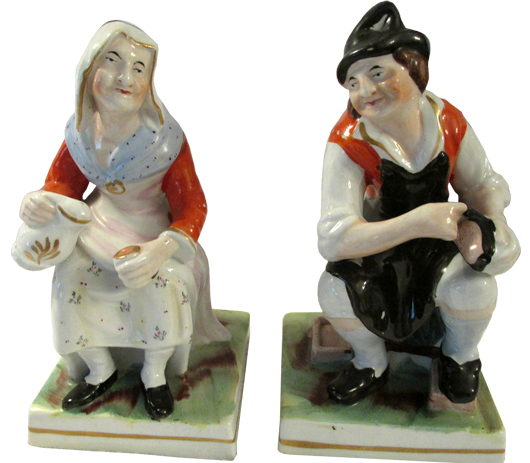 Staffordshire figurines from the Estate of Carolyn McCarter and the late Roy McCarter. John W. Coker image