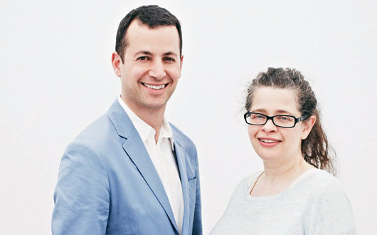 Matthew Slotover and Amanda Sharpe, co-founders of Frieze fair empire, who have announced that they will step down as the fair's co-directors to pursue other projects. Image courtesy of Frieze.