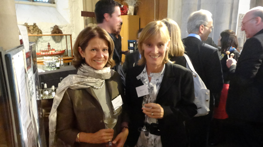 Diana Cawdell (left) and Hetty Gleave, panel members of Art Resolve, the art market's dispute resolution agency, recently relaunched at St. Olave's Church in the heart of London. Image Auction Central News.