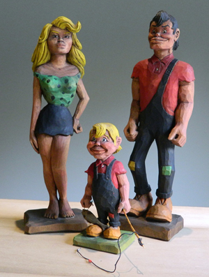 Hand-carved Dogpatch figures returning home for exhibit