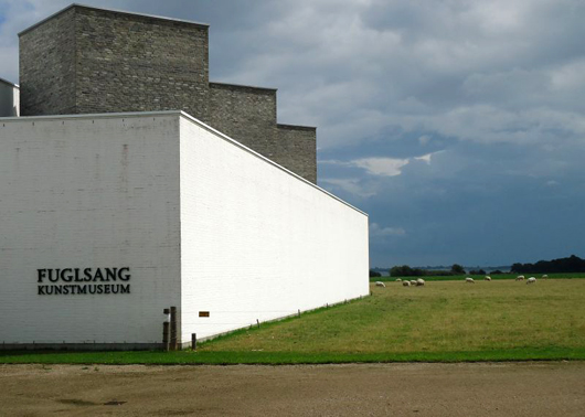 The Fuglsang Kunstmuseum sits in a dramatically lonely location, yet houses examples of the important periods in Danish art history. Photo by Heidi Lux.