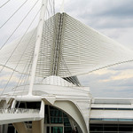 Spanish architect Santiago Calatrava's 'Burke Brise Soleil' at the Milwaukee Art Museum. Image by Michael Hicks (Mulad) - Flickr. This file is licensed under the Creative Commons Attribution 2.0 Generic license.