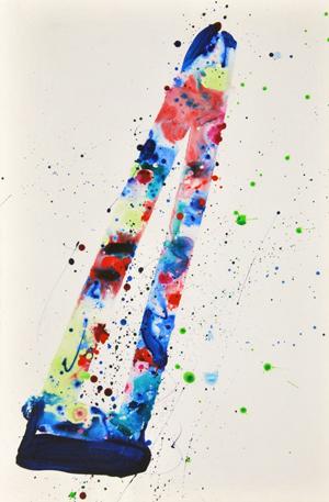 Sam Francis (American, 1923-1994), original acrylic on paper, est. $25,000-$35,000. Palm Beach Modern Auctions image