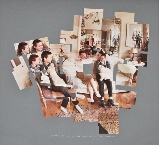 David Hockney (English, b. 1937-), chromogenic print collage titled 'George, Blanche, Celia, Albert and Percy,' signed, 12/20, 1983 edition, est. $25,000-$35,000. Palm Beach Modern Auctions image