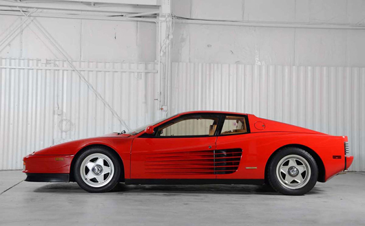 1987 Ferrari Testarossa, $85,800. Morphy Auctions image