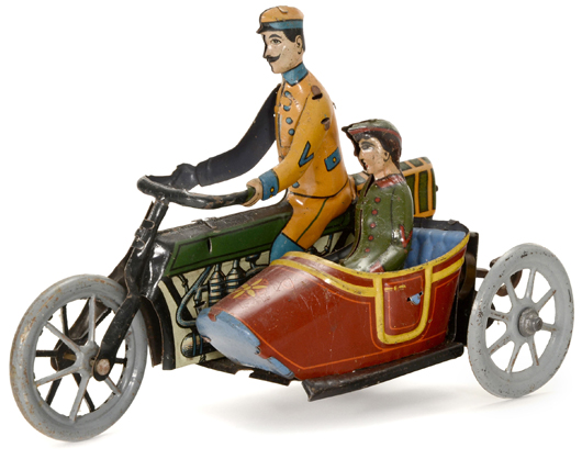 One of more than 70 tin toy motorcycles that will be sold by Auction Team Breker on Nov. 14-15. Auction Team Breker image
