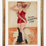 Justin McCarthy (American, 1891-1977), 'Miss America 1946,' ink and watercolor on paper, 17 1/2 in. x 11 3/4 in., 44 x 30 cm (sight). Estimate: $500-$700. Material Culture image