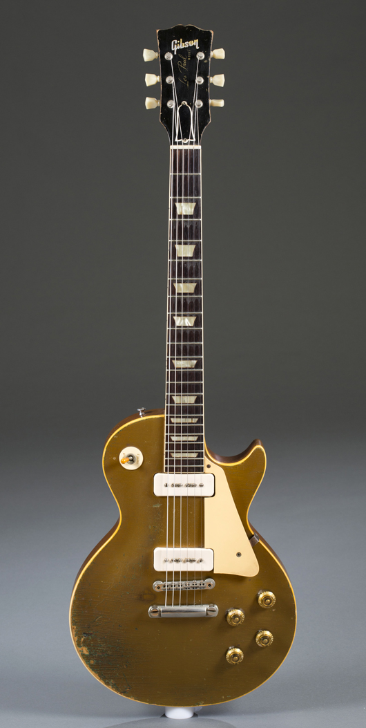 Les Paul 1956 Goldtop electric guitar, est. $10,000-$15,000. Quinn & Farmer image