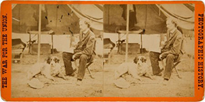 Rare Civil War stereo view of Gen. George Armstrong Custer, E & HT Anthony War View No. 2438, 'Gen. Custer at his Head Quarters in the field, Army of the Potomac, Va.' Image courtesy of LiveAuctioneers.com archive and Heritage Auctions.