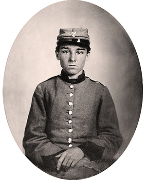 Pvt. Edwin Francis Jemison of the 2nd Louisiana Infantry Regiment, whose image became one of the most famous portraits of the young soldiers involved in the Civil War. Image courtesy of Wikimedia Commons.