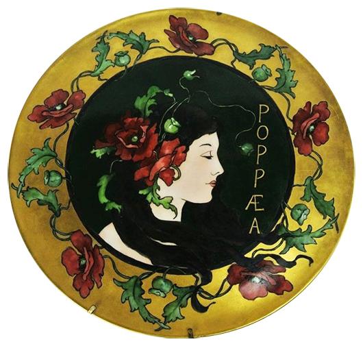 Art Nouveau porcelain portrait plate, 13¾ inches in diameter, est. $300-$400. Don Presley Auctions image