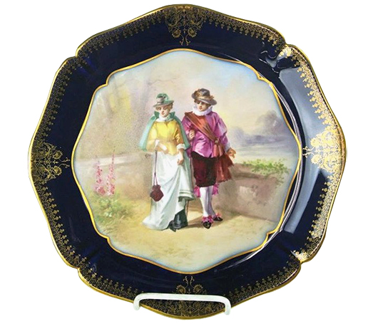 Hand-painted Limoges plate, 12¼ inches in diameter, est. $50-$100. Don Presley Auctions image