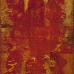 V.S. Gaitonde, Untitled, 1977, oil on canvas, 70 x 40 inches (177.8 x 101.6 cm). Taj Mahal Palace Hotel, Mumbai, © Solomon R. Guggenheim Foundation, New York. Photo: Anil Rane