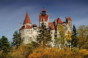 Dracula's Bran Castle in Romania, currently offered for sale for $78 million. Image courtesy of www.toptenrealestatedeals.com.