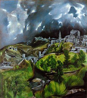 El Greco's 'View of Toledo,' circa 1596-1600, oil on canvas. Metropolitan Museum of Art, New York.