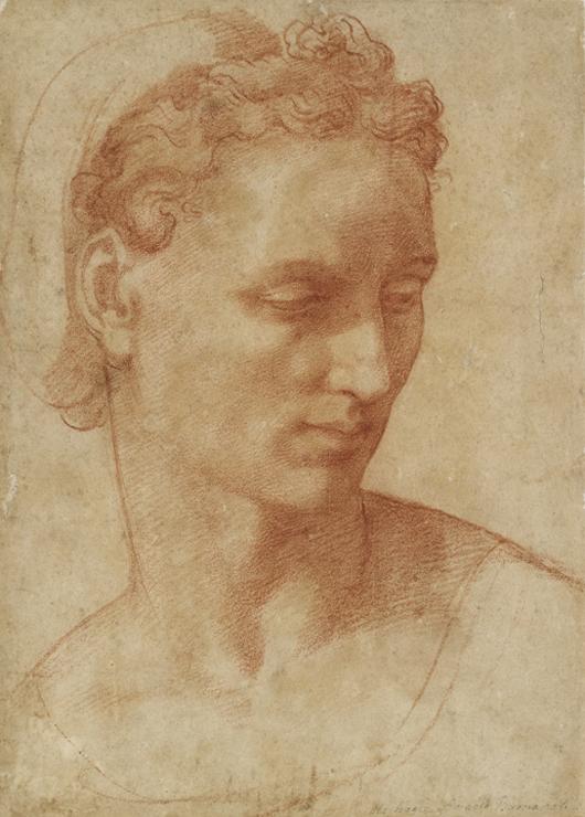 Baccio Bandinelli, 'Head Study,' 1510-20, Ashmolean Museum, University of Oxford