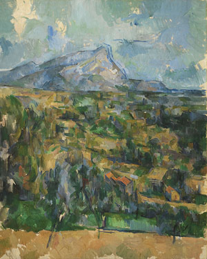 Paul Cézanne, 'Mont Sainte-Victoire,' ca. 1904–1906, oil on canvas, 33 x 25 5/8 in. The Henry and Rose Pearlman Foundation, on long-term loan to the Princeton University Art Museum.