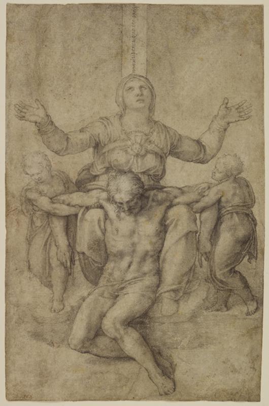 Michelangelo, 'Pietà,' about 1538-1544, Isabella Stewart Gardner Museum, Boston