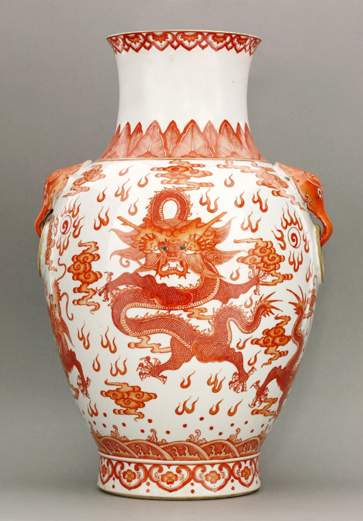 Vase, Daoguang mark and period (1821-1850), six character seal mark in red, 41cm. Estimate: £10,000-£15,000. Sworder image