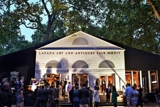 An exterior shot of the recent LAPADA Fair in Berkeley  Square, which saw record attendance figures. Image courtesy of  LAPADA.