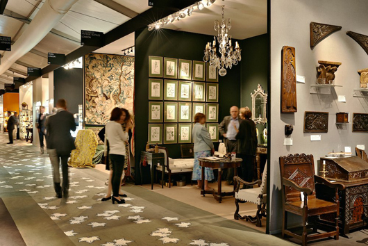 The recent LAPADA Fair this year witnessed new interest  from a younger clientele, helping to dispel the conservative image  of traditional antiques fairs. Image courtesy of LAPADA.