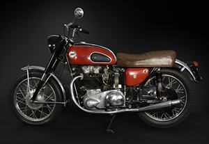 Buddy Holly's original 1958 Ariel Cyclone motorcycle was a gift to Waylon Jennings. Guernsey's image.