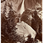 Carleton E. Watkins, 'Upper Yosemite Fall, Yosemite,' 1865–66. Albumen silver print. The exhibition runs Nov. 3 through Feb. 1. Lent by Department of Special Collections, Stanford University Libraries