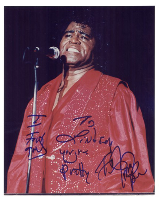 Autographed photo of James Brown. Image courtesy of LiveAuctioneers.com archive and Signature House.
