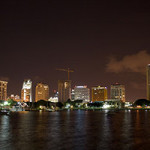 Downtown St. Petersburg, Fla., skyline at night. Image by Ryan Abel. This file is licensed under the Creative Commons Attribution-ShareAlike 2.0 Generic license.