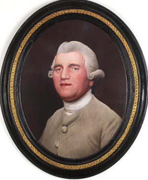 George Stubbs' portrait on ceramic of Josiah Wedgwood. Photo The Wedgwood Museum/Phil Sayer