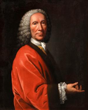 William Aikman (British, 1682-1731), 'Portrait of Maestro, Giovanni Bononcini (Italian, 1670-1747),' oil on canvas: 30 1/4 in. x 25 in. Estimate: $90,000 to $130,000. Clars Auction Gallery image