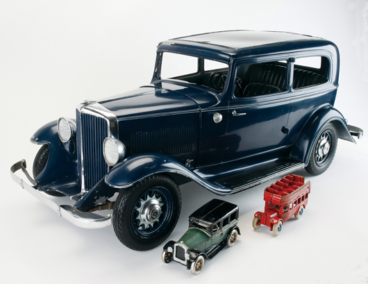 Quarter-scale display model of 1932 Hudson made for the New York Auto Show, one of seven known in all original condition, est. $20,000-$30,000. Noel Barrett image