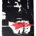 Lot 441 – Manolo Millares, gouache, untitled abstract composition. Roland Auctions NY image