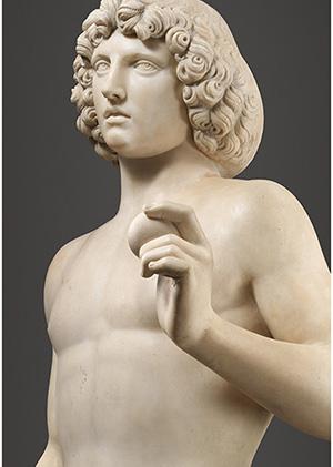 The Metropolitan Museum of Art's marble sculpture 'Adam' by Tullio Lombardo (ca. 1455–1532). Metropolitan Museum of Art image.