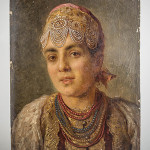 Konstantin Makovsky (Russian, 1839-1915), 'Portrait of Young Woman,' oil on board, signed, unframed. Estimated value: $8,000-$12,000. Capo Auction image