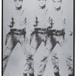 Andy Warhol (1928-1987), 'Triple Elvis [Ferus Type],' silkscreen ink and silver paint on linen, 82 x 69 inches (208.73 x 175.3 cm), executed in 1963, sold for $81.9 million. Courtesy Christie's Images Ltd 2014