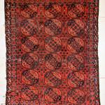 Antique Ersari Guli Gul rug, 7 feet 7 inches x 9 feet 8 inches (231 x 295 cm). Estimate: $5,000-$7,000. Material Culture image.