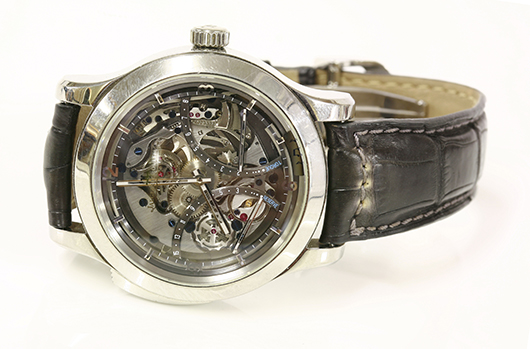 Titanium Jaeger-LeCoultre Master Minute Repeater, 2008, one of only 200 made.  Estimate:  £30,000 and £40,000 ($47,000-$62,660). Sworders Fine Art Auctioneers image.